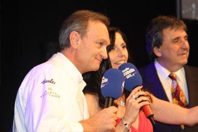 Radio Arabella Silvestergala 2011 auf dem Nockherberg mit Küchenchef Andreas Geitl und Gastgeber Peter Pongratz