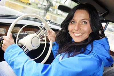 Natascha bei Deutschlands exclusivster Oldtimer Rallye