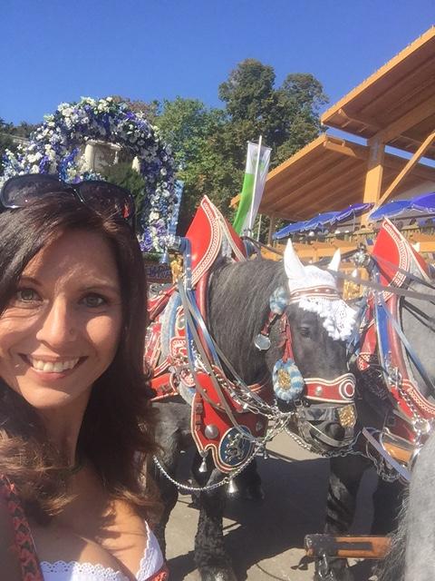 immer wieder beeindruckend: die prachtvoll geschmückten Pferde vom Einzug der Wirte