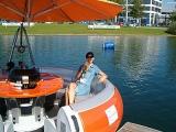 Interboot 2007 Friedrichshafen: Moderation der Attraktionen am Messesee (von Wakebordjam bis zu Kielsegelyachten)