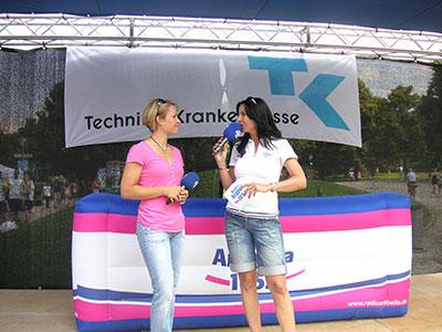 Sehr nettes Interview mit Magdalena Neuner auf dem Bavarian Run 2013 im Olympiapark