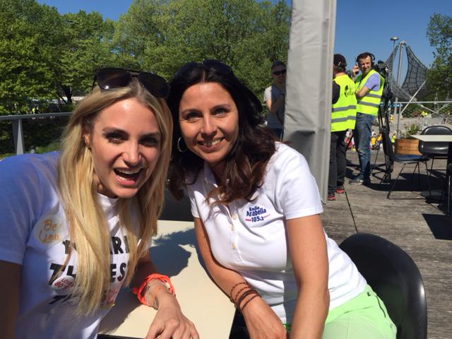 Wings for life world run Olympiapark/ Anna Kraft mehrmalige Deutsche Meisterin in der Sprinterstaffel und Wings for life Botschafterin