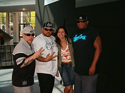 Tuning World 2007 am Bodensee Toby, Derek und Big Dane von der US Kult Show West Coast Customs
