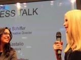 Pressetalk mit Claudia Schiffer auf der Opti 2014 für Rodenstock
